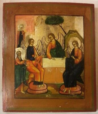 Russian Christian Orthodox Icon Of Holly Trinity Old Testament Christianity