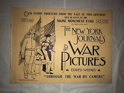 "RARE Antique 1898 ""War Pictures"" Booklet No. 2 Great Condition"