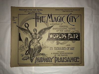 """Antique 1894 """"The Magic City"""" Booklet Vol. 1, No. 10 Very Good Condition"""