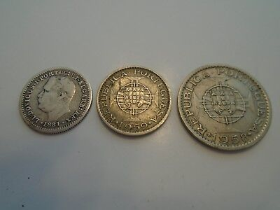 3 Used Coins Portugeese India