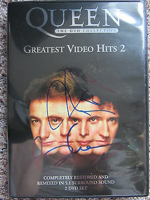 2 DVDs Queen - Greatest Video Hits 2 / Autogramme Roger Taylor & Brian May