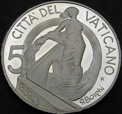 VATICAN 5 Euro 2002 Proof - Silver - Project of Peace and Unity - 644 ¤
