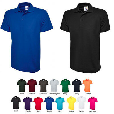 Mens Classic Polo T Shirt Size S to 4XL 220GSM Cotton & Polyester Shirts / UC101