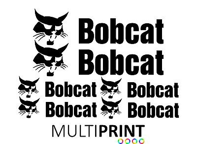 Bobcat Sticker Decal Kit | Digger | Excavator | Plant | Mini Digger | DIG1