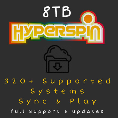 8TB Hyperspin For PC - Sync & Play - Retro Arcade - Future Updates Included