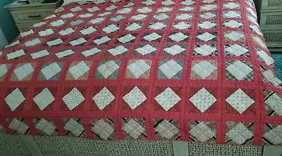 "Vintage - Antique - 78"" x 72"" Quilt - 1920-30's"