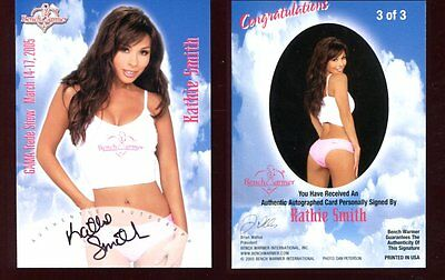 BENCHWARMER bench warmer KATHIE SMITH  autograph  SIGNED trading card SB447