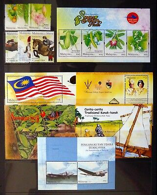 MALAYSIA 2007 - 13 Sets & 6 M/Sheets on 2 Pages U/M NJ585