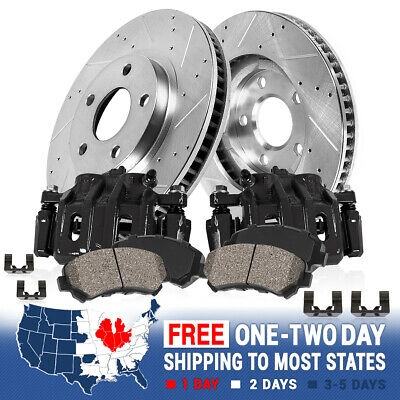 Front Brake Calipers And Ceramic Pads For 2004 FORD F150 2WD 4X4 4WD