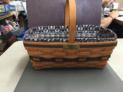 1993 Longaberger Original Easter Basket J.w Collection With Liner And Protector