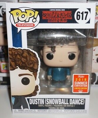Funko Pop Dustin Snowball #617 Stranger Things SDCC Shared Exclusive DAMAGED