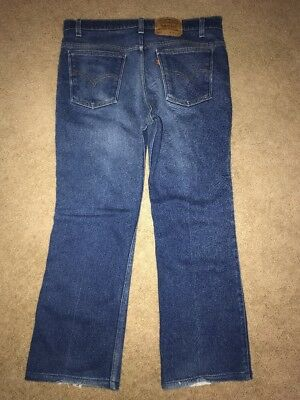 Vintage Levis 517 Boot Cut Jeans Made in USA Denim Men's 36 x 32 Orange Tab