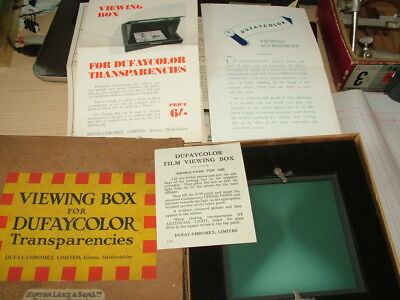 Vintage Photographic Dufaycolor Transparency Viewing Box. Boxed.