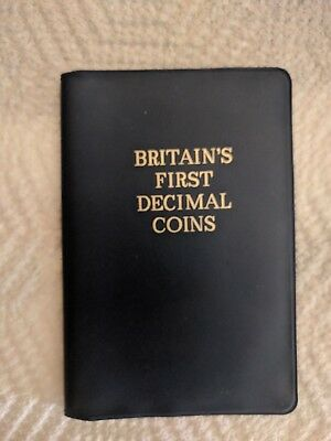 Great Britain's First Decimal Coin Set 1968-71 Near Mint