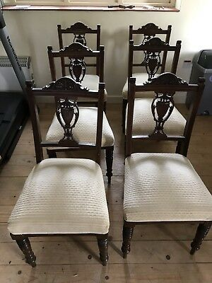 Set Of 6 Edwardian Dining Chairs