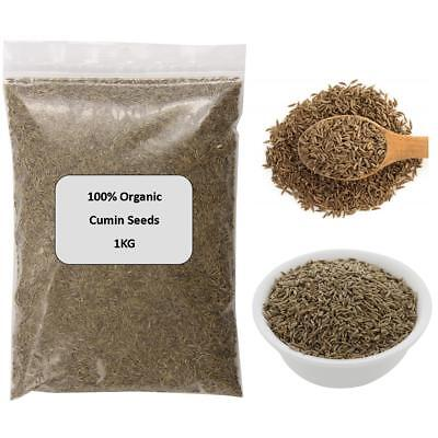 1KG Organic Cumin Seeds 100% Pure Premium Quality Indien Jeera Spice UK Cooking