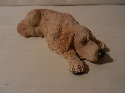 """Golden Retriever Laying Down Asleep by Living Stone 4"""" Wide (25)"""
