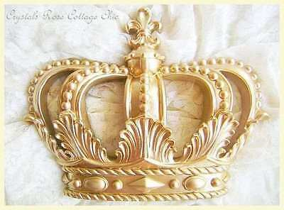 Princess / Prince Glamorous Gold Fleur de Lis Bed Crown Canopy Party Table Decor