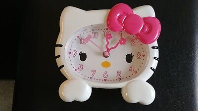 "2012 Sanrio Hello Kitty 8 X 8"" Plastic Wall Clock Great Find!!"