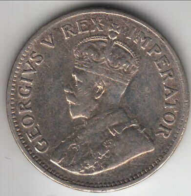 1933 South Africa silver 3 pence, mid-grade, KM-15.2