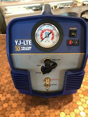 Yellow Jacket yj-lte 95730 Refrigerant Recovery hvac System Freon Tool Unit