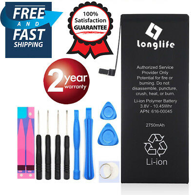 LONGLIFE Brand New Battery compatible For IPhone 6S PLUS  2750mAh + FREE Tools