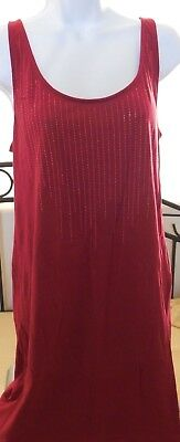 Express 36Inch Red Summer Dress Tank W Sequins In Lines Down Front~Razer Back!!!