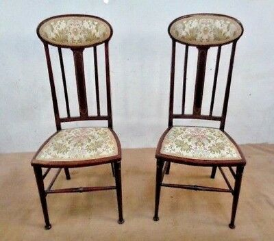 A Pair of JAS Shoolbred ,Arts and Crafts  Chairs