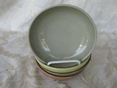 """Fantastic Set of 4 Russel Wright Iroquois 5 1/2"""" Bowls Various Colors"""