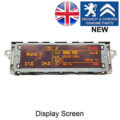 Peugeot 1007 207 308 3008 5008 RCZ RD4 Clock Radio Display Screen Genuine
