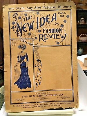 1901 NEW IDEA REVIEW FASHION Pattern Book Illustrated Vintage Original
