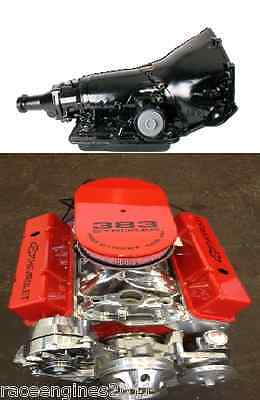 355/700r4 MOTOR/TRANNY COMBO 435HP ROLLER TURN KEY  CHEVY CRATE ENGINE  SBC CNC