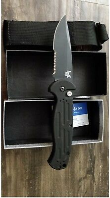 BENCHMADE 9051 AFO II BLACK CLASS Serrated PLUNGE LOCK Tactical Knife-BRAND NEW!