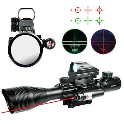 Tactical Hunting Scope 4-12X50EG Scope+Holographic 4 Reticle Dot Sight+Red Laser