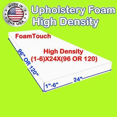 """Upholstery Foam Seat Cushion Replacement - 24"""" x 96"""" & 24"""" x 120"""" by FoamTouch"""
