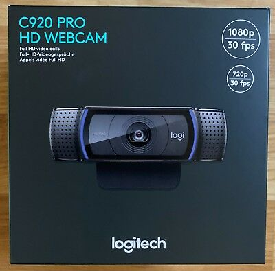 Logitech C920 Pro HD Webcam 1080P Microphone Video Call Skype USB PC Camera