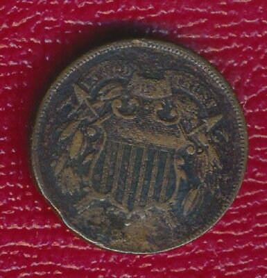 1864 Two Cent Piece **civil War Era Copper Type Coin** Nice Collection Addition!