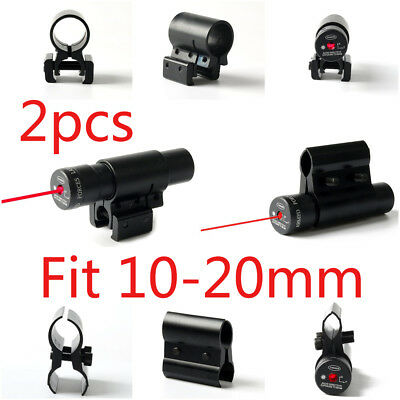 2pcs Tactical Red Laser Beam Dot Sight for Pistol Picatinny Mount Fit 10-20mm