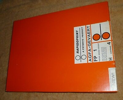 Agfa Rapidoprint 8.5x11 unopened box of 100 sheets Photographic Paper FP 1