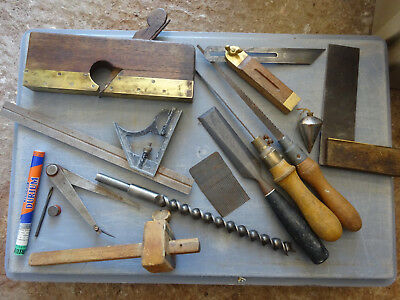 Job lot of Vintage Carpentry tools x 13 - old hand tool