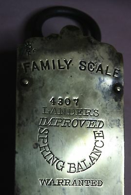 Rare/ Collectible  Antique # 4307  Lander's  Hanging Brass Scale -50 Lb.family