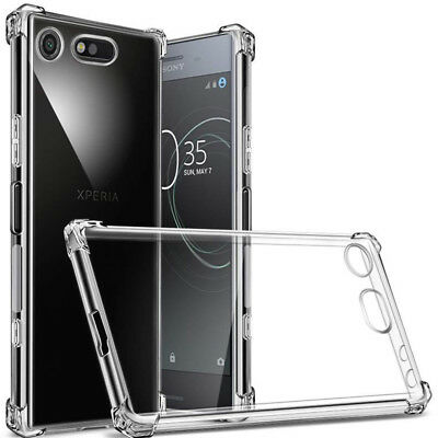 For Sony Xperia 360° Shockproof Transparent Silicone Soft TPU Case Cover Skin