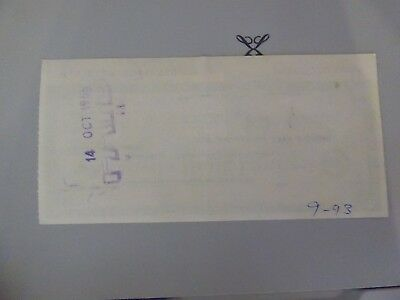 South Africa Fiscal on  Lloyds Travellers Cheque used £5 on 21st September 1966
