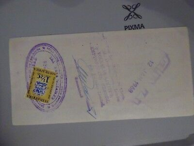 South Africa Fiscal on  Lloyds Travellers Cheque used £2 on 12th January 1968