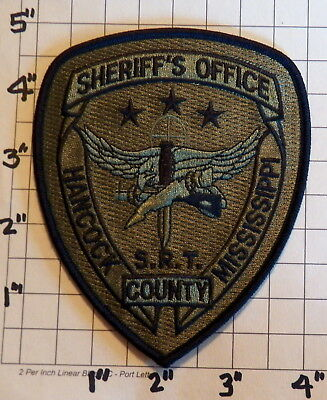 Hancock County (Bay St. Louis,MS) Sheriff's Office S.R.T. Patch        ***NEW***