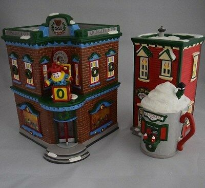 """The Original Snow Village """"Saturday Morning Downtown"""" Dept 56 Set of 2 ONLY"""