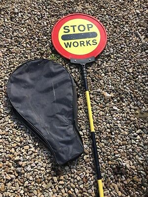 Stop Works Traffic Management Collapsible Lollipop Sign