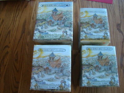 Lot of 4 Boyd's Bears Bearly Built Villages 2000