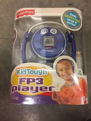 FISHER PRICE KID TOUGH FP3 PLAYER BLUE 128MB MUSIC STORIES UNUSED New in Box