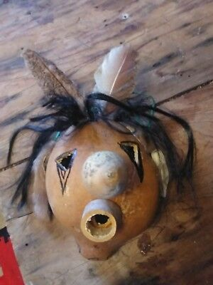 Vintage Cherokee Indian Singing Gourd Mask Awesome!!